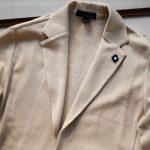 LARDINI (ラルディーニ) Milano Rib Knit Jacket (ミラノリブ ニット ジャケット) コットン ミラノリブ 2B ニットジャケット BEIGE(ベージュ・200) Made in italy (イタリア製) 2019 春夏新作のイメージ