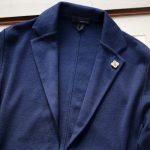 LARDINI (ラルディーニ) Milano Rib Knit Jacket (ミラノリブ ニット ジャケット) コットン ミラノリブ 2B ニットジャケット BLUE(ブルー・820) Made in italy (イタリア製) 2019 春夏新作のイメージ