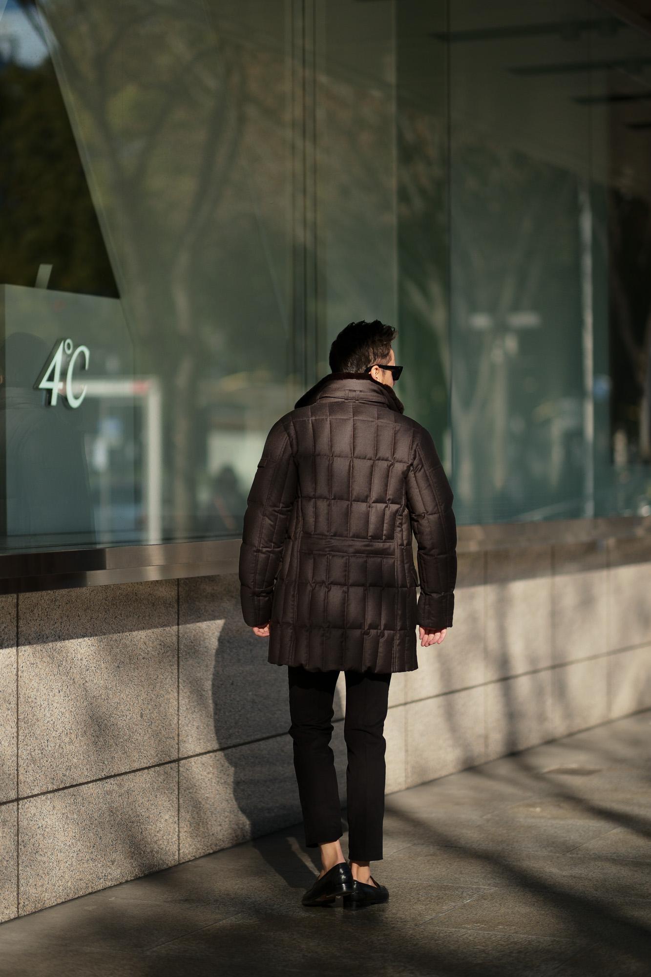 MOORER (ムーレー)MORRIS-L (モーリス) LoroPiana (ロロピアーナ) ウールカシミア ダブルブレスト ダウン コート BEIGE (ベージュ・32) , ANTRACITE(チャコールグレー・07) , NERO(ブラック・08) ,  Made in italy (イタリア製) v【2019 秋冬分 ご予約受付中】愛知 名古屋 altoediritto アルトエデリット ダウンジャケット