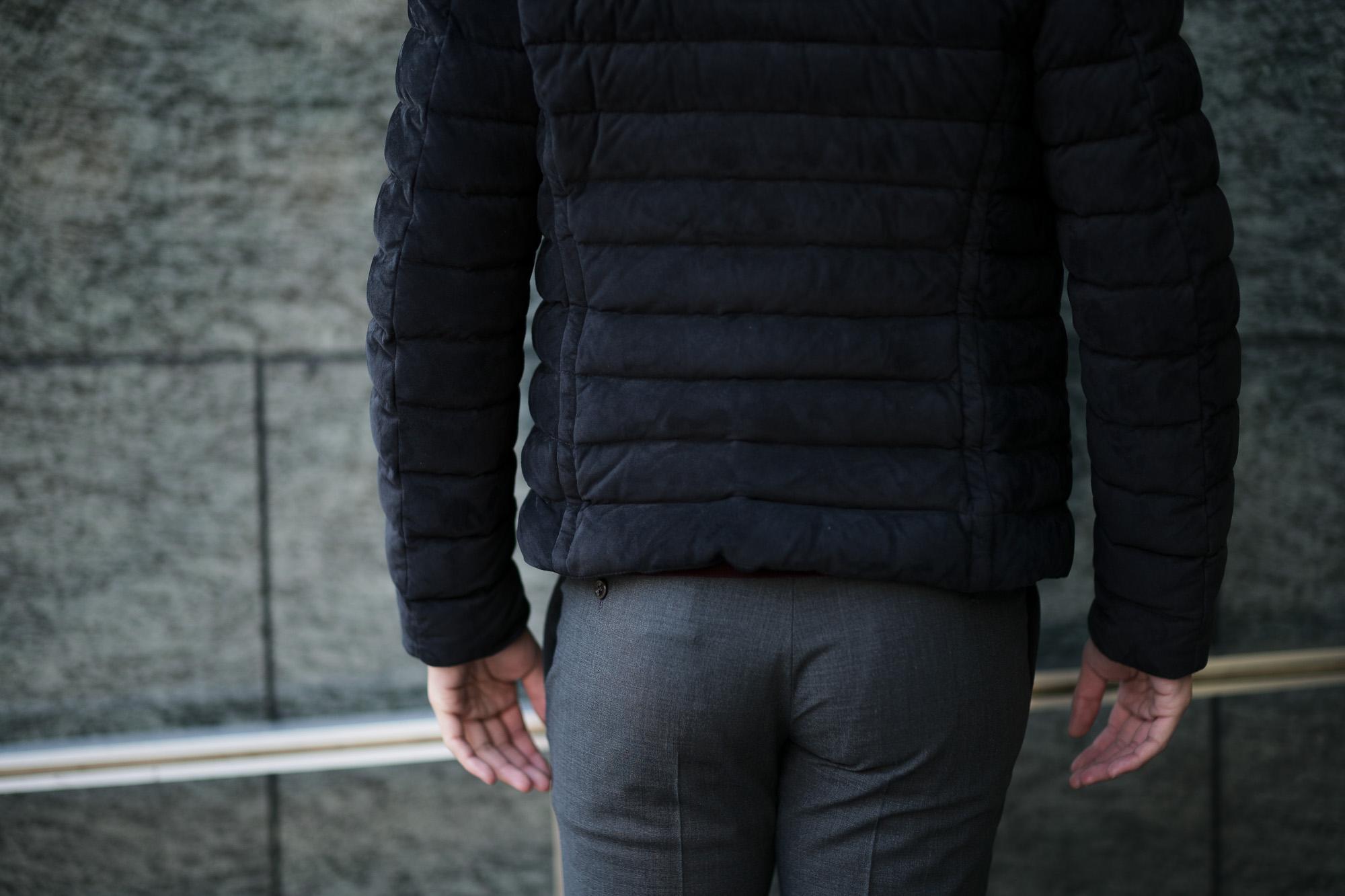MOORER (ムーレー) RAY-UR (レイ) スエードレザー ダウン ジャケット NERO(ブラック・08)  Made in italy (イタリア製)【2019 秋冬分 ご予約受付中】愛知 名古屋 altoediritto アルトエデリット ダウンジャケット