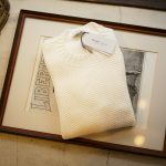 Settefili Cashmere (セッテフィーリ カシミア) Girocollo Nido D Ape (メッシュ クルーネック セーター) リネンコットン サマーニット セーター OFF WHITE (オフホワイト・MA05)  made in italy (イタリア製) 2019 春夏新作のイメージ