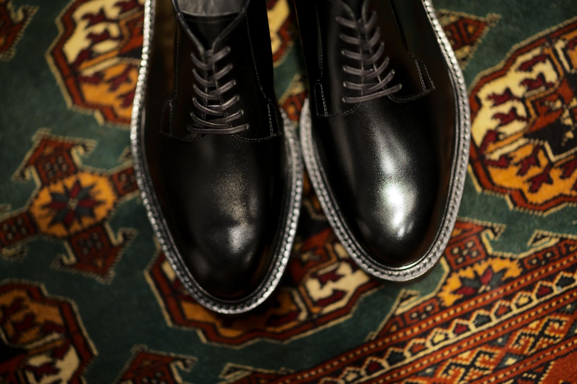 WH (ダブルエイチ) WHS-0001 Plane Toe Shoes (干場氏 スペシャル モデル) Cruise Last (クルーズラスト) ANNONAY Vocalou Calf Leather プレーントゥシューズ BLACK (ブラック) MADE IN JAPAN(日本製) 2019 春夏新作 wh 干場さん 干場スペシャル FORZASTYLE フォルザスタイル 愛知 名古屋 Alto e Diritto アルト エ デリット