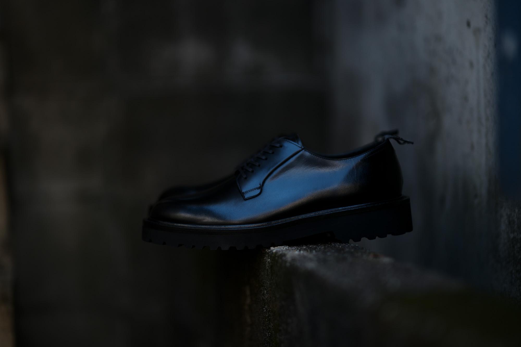 WH (ダブルエイチ) WHS-0001 Plane Toe Shoes (干場氏 スペシャル モデル) Cruise Last (クルーズラスト) ANNONAY Vocalou Calf Leather プレーントゥシューズ BLACK (ブラック) MADE IN JAPAN(日本製) 2019 春夏新作 wh 干場さん 干場スペシャル FORZASTYLE フォルザスタイル 愛知 名古屋 東京 大阪 Alto e Diritto アルト エ デリット