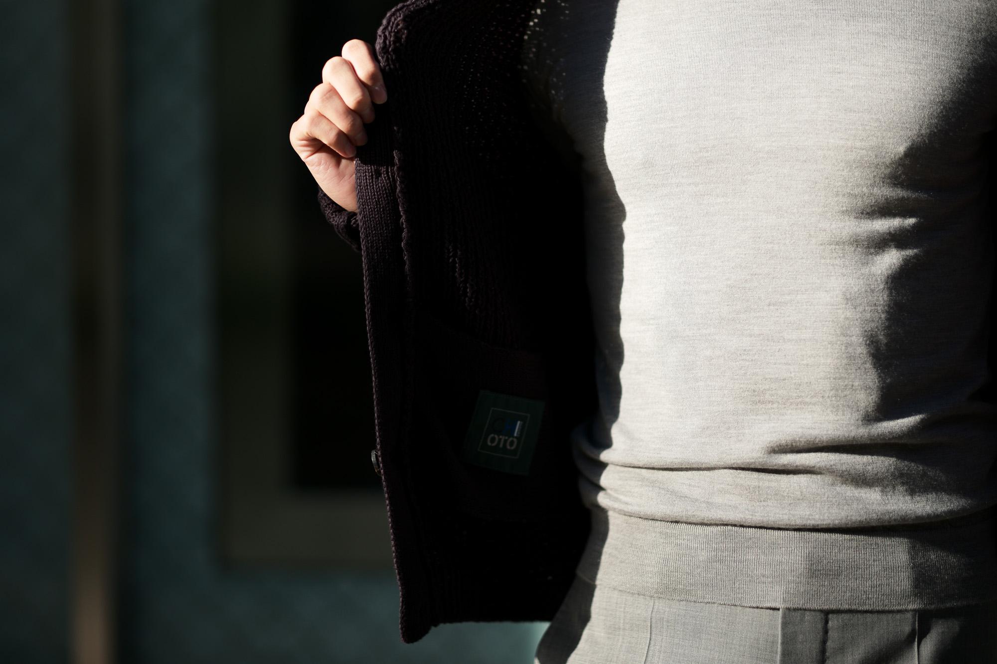 ZANONE (ザノーネ) CHIOTO Kyoto (キョウト) コットンミドルゲージニット カーディガン ジャケット NAVY (ネイビー・Z1222) made in italy (イタリア製) 2019 春夏新作 愛知 名古屋 alto e diritto アルトエデリット ニットジャケット