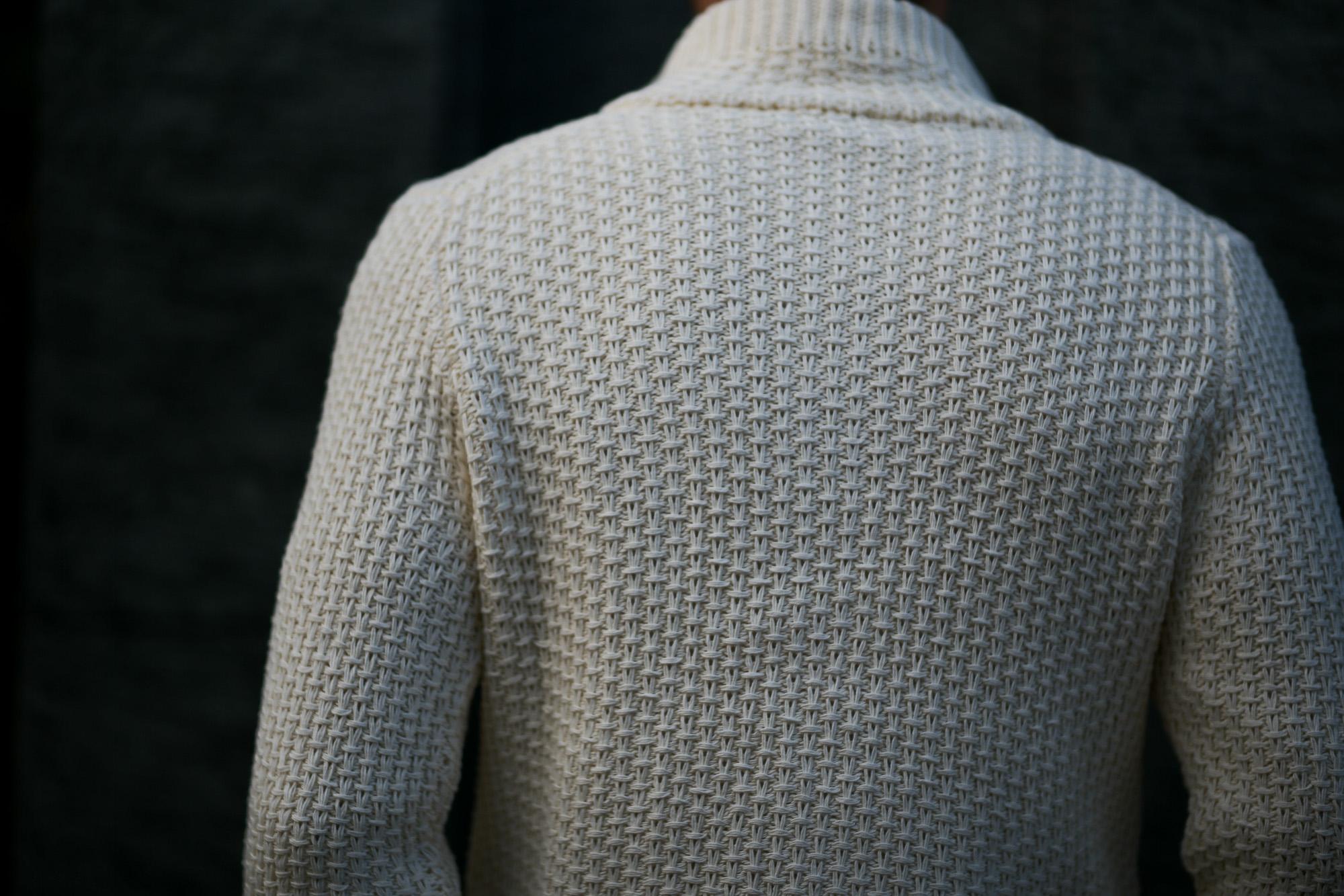 ZANONE (ザノーネ) CHIOTO Kyoto (キョウト) コットンミドルゲージニット カーディガン ジャケット OFF WHITE (オフホワイト・Z3372) made in italy (イタリア製) 2019 春夏新作 愛知 名古屋 alto e diritto アルトエデリット ニットジャケット