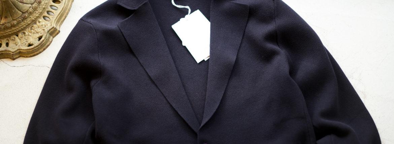 Cruciani (クルチアーニ) Milano Rib Jacket (ミラノリブ ジャケット) 2B コットン ミラノリブ ジャケット NAVY (ネイビー・469BS) made in italy (イタリア製) 2019 春夏新作のイメージ