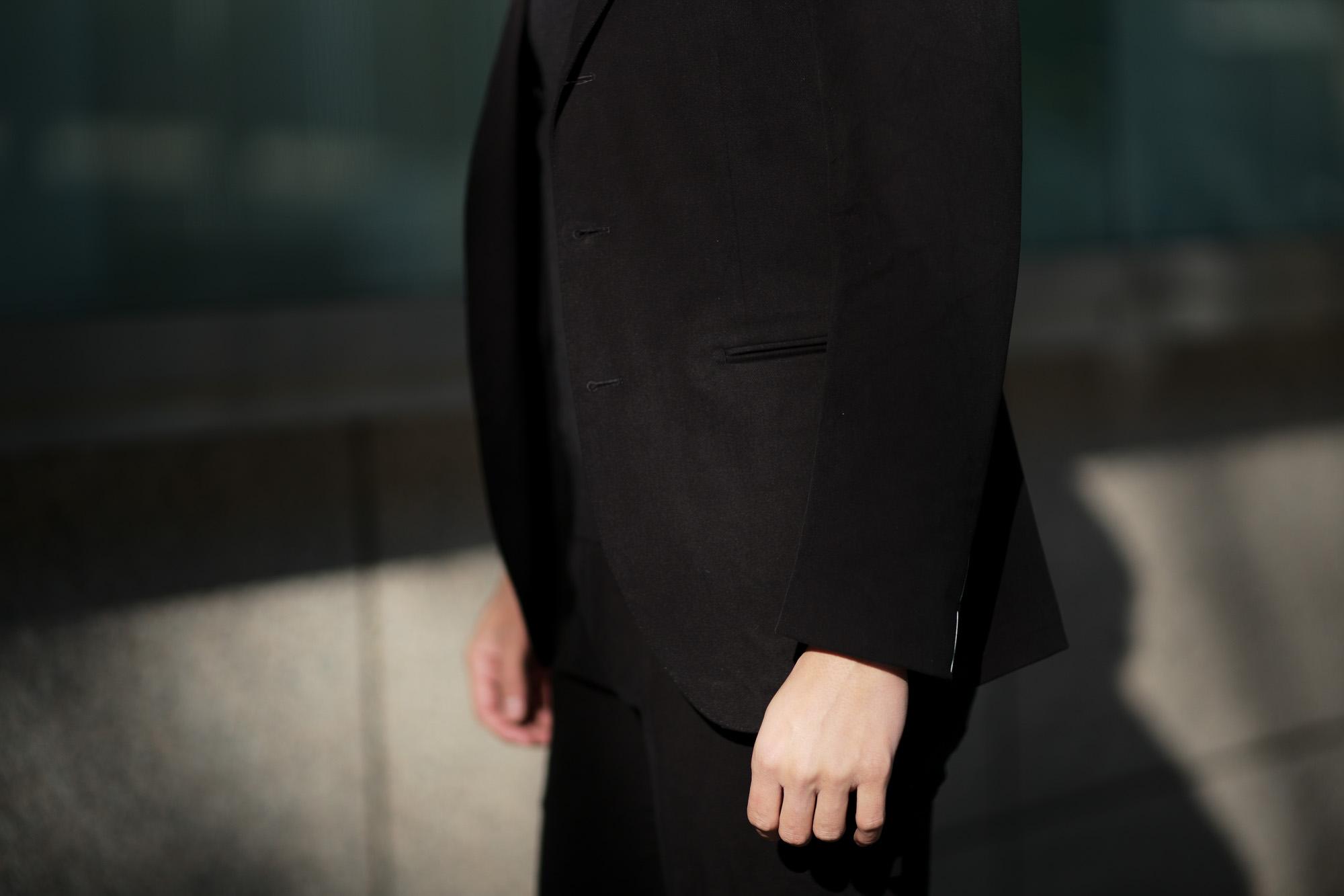 Cuervo (クエルボ) Sartoria Collection (サルトリア コレクション) Rooster (ルースター) STRETCH COTTON ストレッチコットン スーツ BLACK (ブラック) MADE IN JAPAN (日本製) 2019 春夏新作 【第2便ご予約受付中】 alto e diritto アルトエデリット
