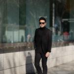 Cuervo (クエルボ) Sartoria Collection (サルトリア コレクション) Rooster (ルースター) STRETCH COTTON ストレッチコットン スーツ BLACK (ブラック) MADE IN JAPAN (日本製) 2019 春夏新作 【第2便ご予約受付中】のイメージ
