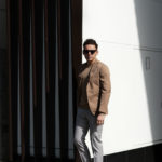 De Petrillo (デ ペトリロ) NUVOLA Anacapri (ヌーボラ アナカプリ) ストレッチコットン 段返り3B ジャケット BEIGE (ベージュ・466) Made in italy (イタリア製) 2019 春夏新作のイメージ