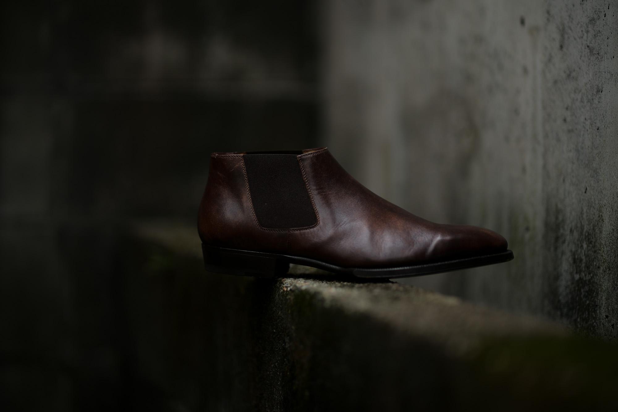 ENZO BONAFE (エンツォボナフェ) CARY GRANT III Side gore Boots サイドゴアブーツ MUSEUM CALF(ミュージアムカーフ) ドレスシューズ ドレスブーツ DARK BROWN(ダークブラウン) made in italy (イタリア製) 2019 秋冬 愛知 名古屋 altoediritto アルトエデリット