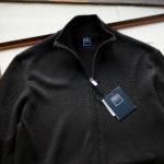 FEDELI (フェデーリ) Zip Up Cardigan (ジップアップ カーディガン) スーピマコットン ニット カーディガン BLACK (ブラック・36) made in italy (イタリア製) 2019 春夏新作のイメージ