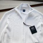 FEDELI (フェデーリ) Zip Up Cardigan (ジップアップ カーディガン) スーピマコットン ニット カーディガン WHITE (ホワイト・41) made in italy (イタリア製) 2019 春夏新作のイメージ