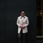 KIRED (キーレッド) PABLO (パブロ) LoroPiana (ロロピアーナ) レーザーカット ステンカラー コート BEIGE × RED (ベージュ×レッド・38) Made in italy (イタリア製) 2019 春夏新作のイメージ