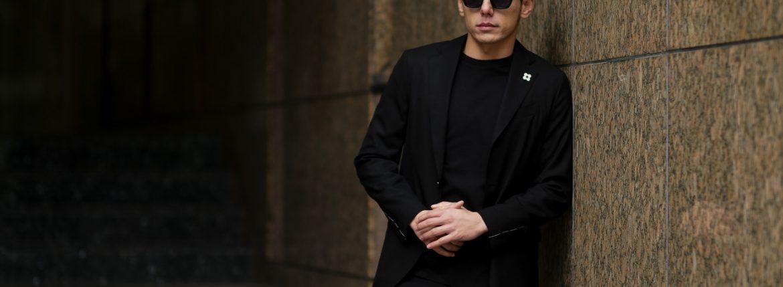 LARDINI (ラルディーニ) EASY WEAR (イージーウエア) Pakkaburu Suit (パッカブル スーツ) トロピカルウール パッカブル ストレッチ スーツ BLACK (ブラック・306) made in italy (イタリア製) 2019 春夏新作のイメージ