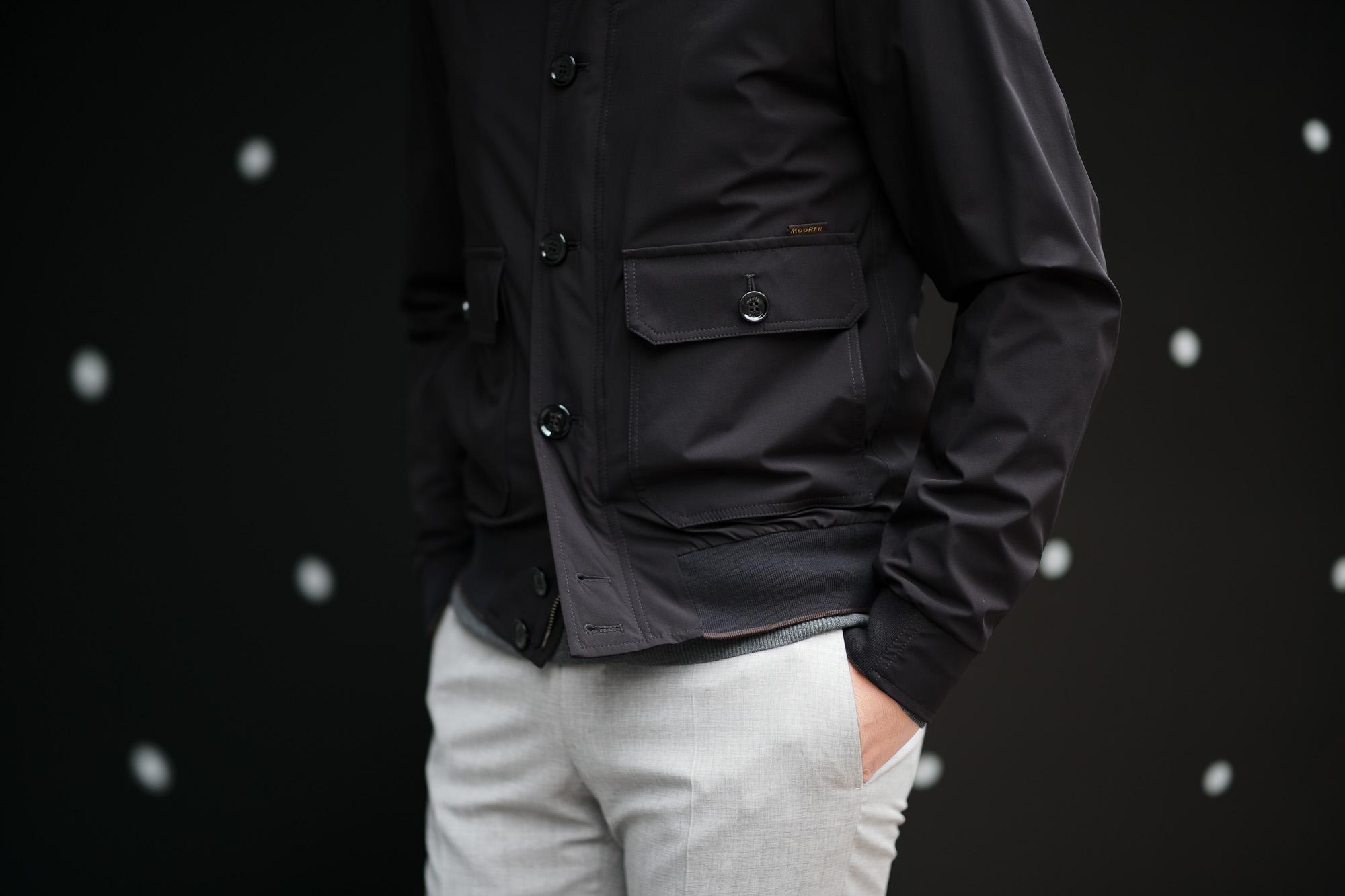 MOORER (ムーレー) CARLOS-KN (カルロス) ストレッチナイロン ヴァルスタージャケット NERO (ブラック) Made in italy (イタリア製) 2019 春夏新作 ミリタリージャケット 愛知 名古屋 altoediritto-アルトエデリット