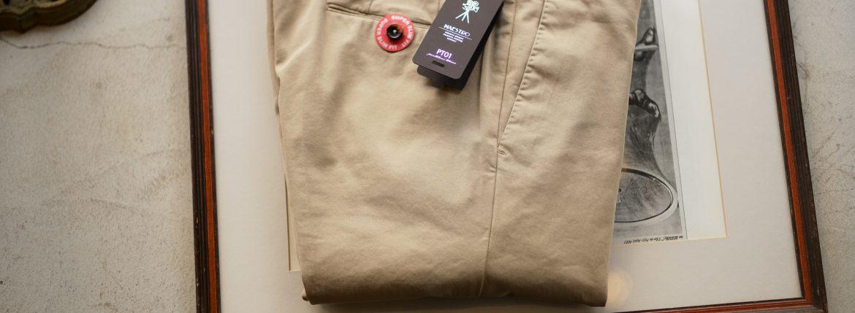 PT01(ピーティーゼロウーノ) MAESTRO (マエストロ) SUPER SLIM FIT (スーパースリムフィット) Stretch Summer Batavia Garment Dye ストレッチ コットン スラックス パンツ BEIGE (ベージュ・0040) 2019 春夏新作のイメージ