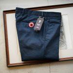 PT01(ピーティーゼロウーノ) MAESTRO (マエストロ) SUPER SLIM FIT (スーパースリムフィット) Stretch Summer Batavia Garment Dye ストレッチ コットン スラックス パンツ NAVY (ネイビー・0360) 2019 春夏新作のイメージ