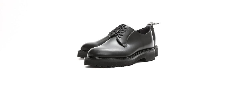 WH (ダブルエイチ) WHS-0010 Plane Toe Shoes (干場氏 スペシャル) Birdie Last (バーディラスト) ANNONAY Vocalou Calf Leather プレーントゥシューズ BLACK (ブラック) MADE IN JAPAN (日本製) 2019 春夏新作 【第2便ご予約受付中】のイメージ