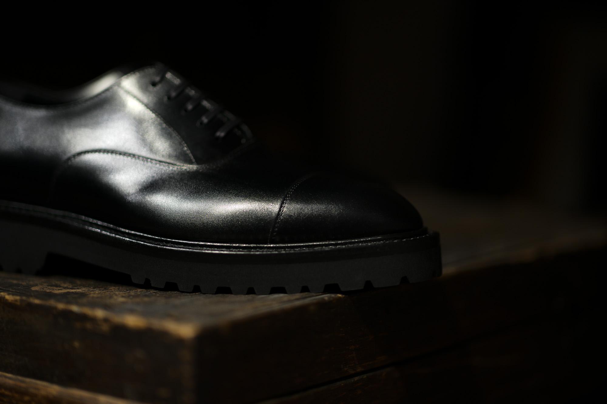 WH (ダブルエイチ) WHS-0110 Straight chip Shoes (干場氏 スペシャル モデル) Trench Last (トレンチラスト) ANNONAY Vocalou Calf Leather ストレートチップ シューズ BLACK (ブラック) MADE IN JAPAN(日本製) 2019 春夏新作【2019春夏フリー分発売中】 干場さん 干場スペシャル FORZASTYLE フォルザスタイル 愛知 名古屋 Alto e Diritto アルト エ デリット