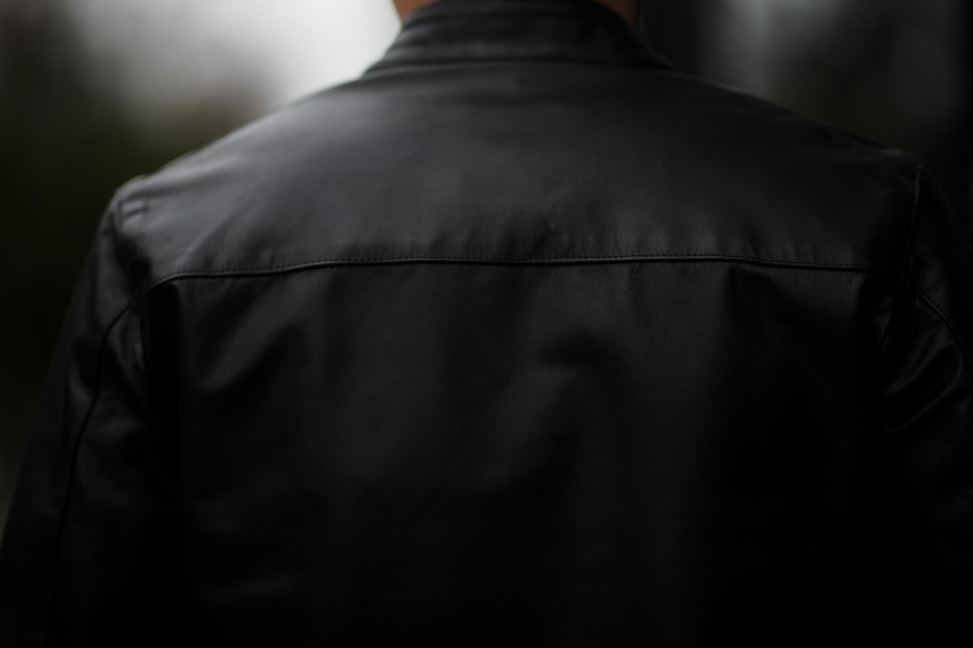 CINQUANTA(チンクアンタ) H502 STAND COLLAR RIDERS CAVALLO (スタンド カラー ジャケット) HORSE LEATHER ホースレザー シングル ライダース ジャケット BLACK GOLD (ブラック ゴールド・999) Made in italy (イタリア製) 2019 秋冬 【第1便ご予約受付中】 cinquanta チンクアンタ レザージャケット 愛知 名古屋 Alto e Diritto アルト エ デリット アルトエデリット
