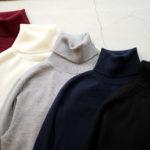 Cuervo (クエルボ) Sartoria Collection (サルトリア コレクション) John(ジョン) Turtle Neck Sweater (タートルネックセーター) ウールニット セーター BLACK (ブラック),NAVY(ネイビー),GRAY(グレー),WHITE(ホワイト),BORDEAUX (ボルドー),BROWN(ブラウン),CHACOAL(チャコール) MADE IN JAPAN (日本製) 2019 秋冬 愛知 名古屋 altoediritto アルトエデリット