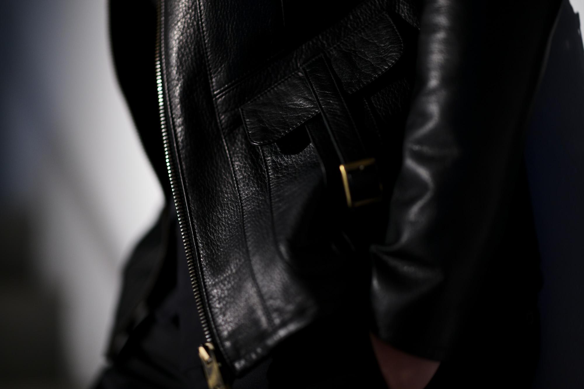Cuervo (クエルボ) Satisfaction Leather Collection (サティスファクション レザー コレクション) East West(イーストウエスト)  SMOKE(スモーク) BUFFALO LEATHER (バッファロー レザー) レザージャケット BLACK(ブラック) MADE IN JAPAN (日本製) 2019 春夏新作  【ご予約受付中】 愛知 名古屋 altoediritto アルトエデリット 洋服屋 レザージャケット サウスパラディソ eastwest