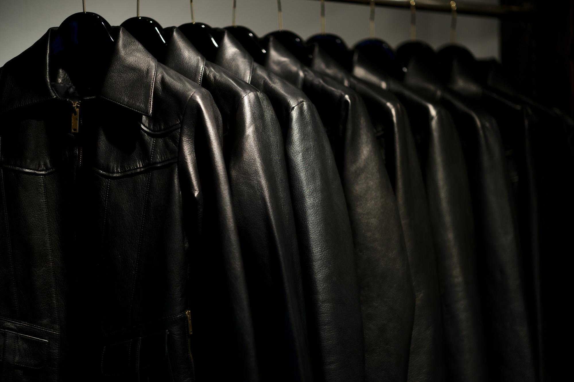 Cuervo (クエルボ) Satisfaction Leather Collection (サティスファクション レザー コレクション) East West(イーストウエスト)  SMOKE(スモーク) BUFFALO LEATHER (バッファロー レザー) レザージャケット BLACK(ブラック) MADE IN JAPAN (日本製) 2019 春夏新作 【第1便入荷しました】【第1便フリー分発売開始】 愛知 名古屋 altoediritto アルトエデリット 洋服屋 レザージャケット サウスパラディソ eastwest