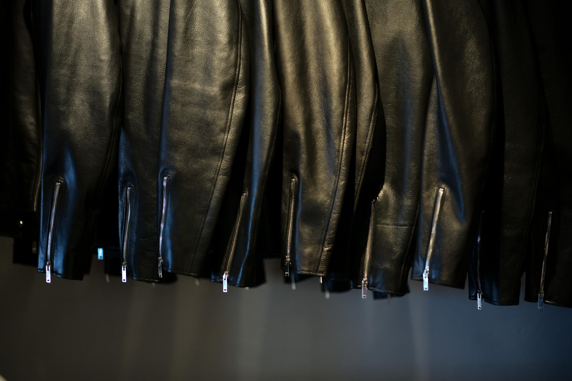 Cuervo (クエルボ) Satisfaction Leather Collection (サティスファクション レザー コレクション) TOM (トム) BUFFALO LEATHER (バッファロー レザー) シングル ライダース ジャケット BLACK (ブラック) MADE IN JAPAN (日本製) 2019 春夏新作【第1便入荷しました】【フリー分販売開始】 クエルボ レザージャケット 愛知 名古屋 alto e diritto アルトエデリット セレクトショップ