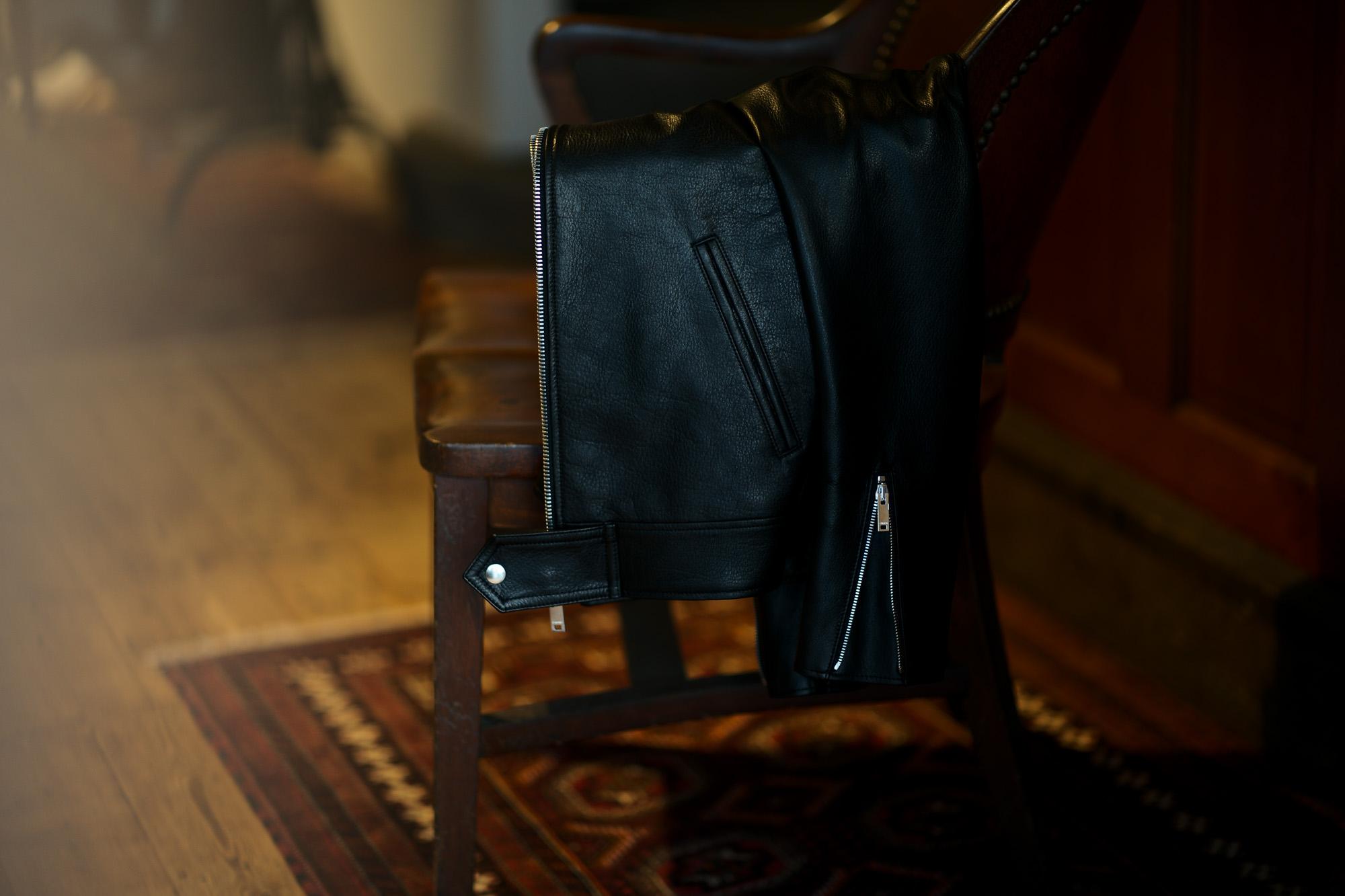 Cuervo (クエルボ) Satisfaction Leather Collection (サティスファクション レザー コレクション) TOM (トム) BUFFALO LEATHER (バッファロー レザー) シングル ライダース ジャケット BLACK (ブラック) MADE IN JAPAN (日本製) 2019 春夏新作 クエルボ レザージャケット 愛知 名古屋 alto e diritto アルトエデリット セレクトショップ