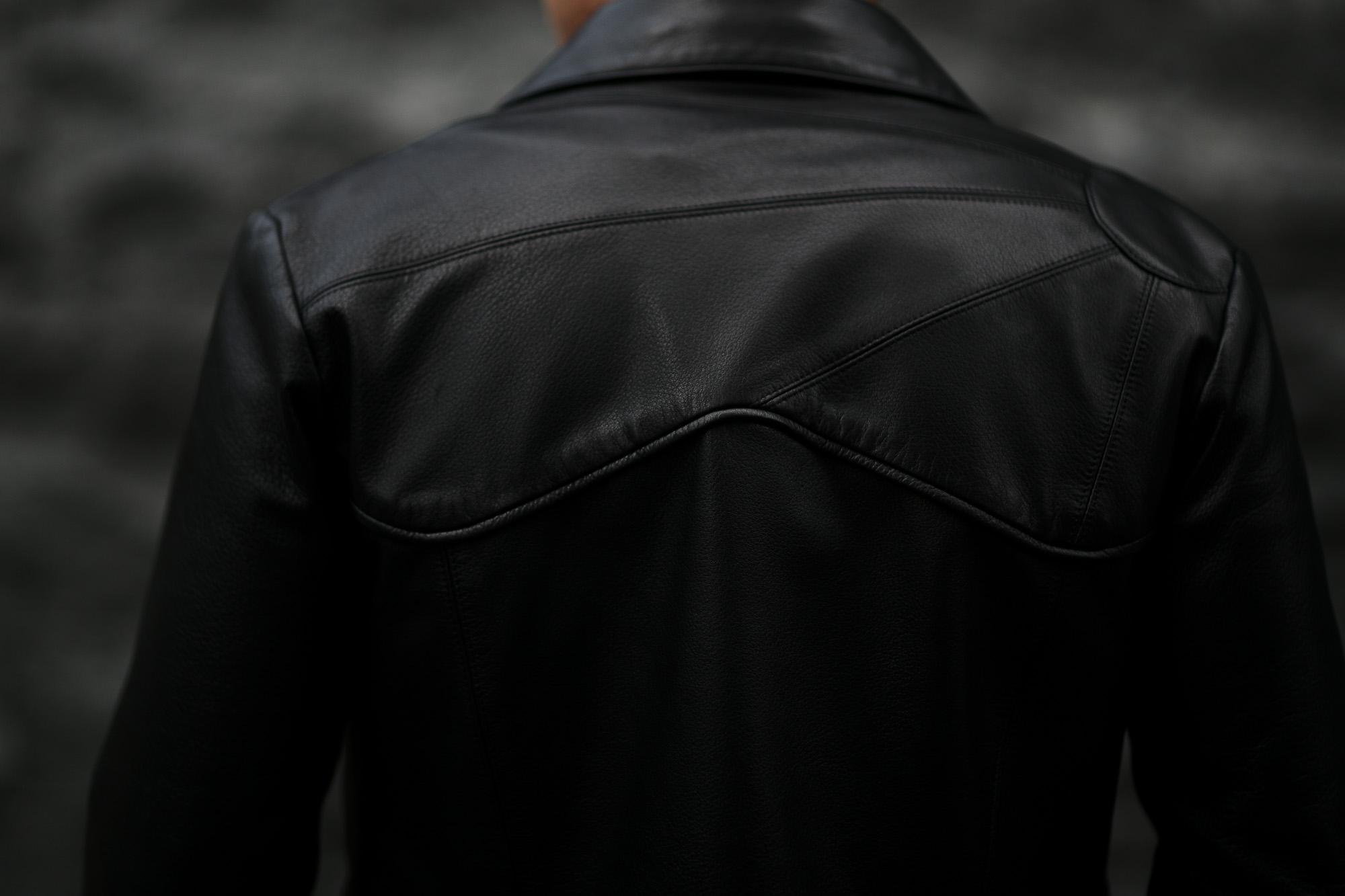 Cuervo (クエルボ) Satisfaction Leather Collection (サティスファクション レザー コレクション) East West(イーストウエスト)  SMOKE(スモーク) BUFFALO LEATHER (バッファロー レザー) レザージャケット BLACK(ブラック) MADE IN JAPAN (日本製) 2019 春夏新作 愛知 名古屋 altoediritto アルトエデリット 洋服屋 レザージャケット サウスパラディソ eastwest