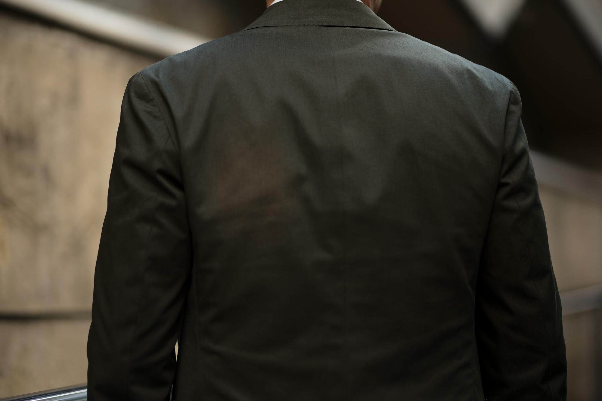De Petrillo (デ ペトリロ) NAPOLI Posillipo (ナポリ ポジリポ) ストレッチコットン スーツ OLIVE (オリーブ・467) Made in italy (イタリア製) 2019 春夏新作 depetrillo デペトリロ 愛知 名古屋 altoediritto アルトエデリット