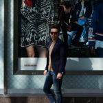 De Petrillo (デ ペトリロ) NUVOLA Anacapri (ヌーボラ アナカプリ) ストレッチコットン 段返り3B ジャケット NAVY (ネイビー・468) Made in italy (イタリア製) 2019 春夏新作のイメージ