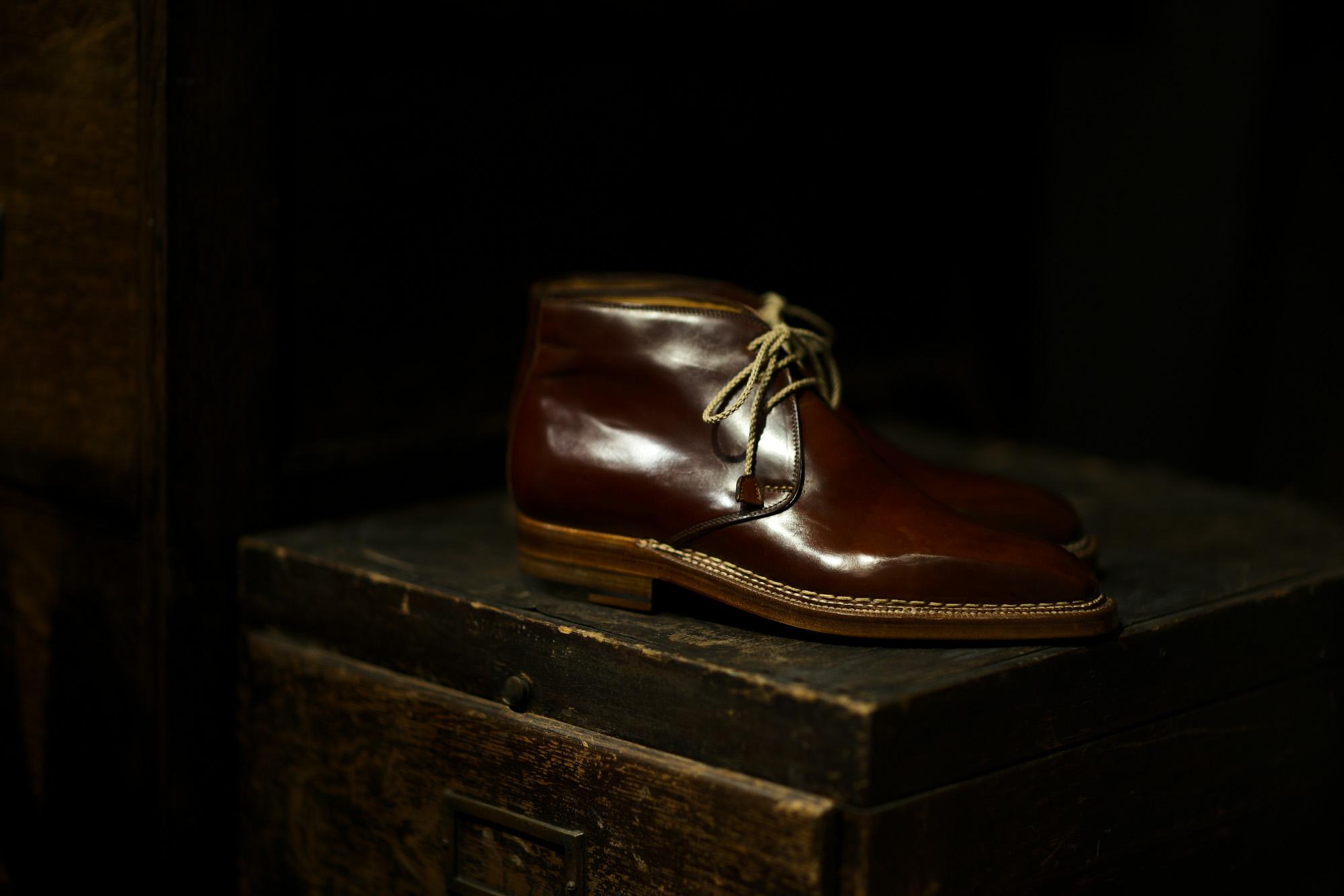 ENZO BONAFE(エンツォボナフェ) ART.3722 Chukka boots チャッカブーツ Horween Shell Cordovan Leather ホーウィン社 シェルコードバンレザー ノルベジェーゼ製法 チャッカブーツ コードバンブーツ No.4(#4)  made in italy (イタリア製) 2019 秋冬 enzobonafe 愛知 名古屋 altoediritto アルトエデリット