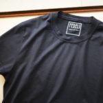 FEDELI (フェデーリ) Crew Neck T-shirt (クルーネック Tシャツ) ギザコットン Tシャツ NAVY (ネイビー・626) made in italy (イタリア製) 2019 春夏新作のイメージ
