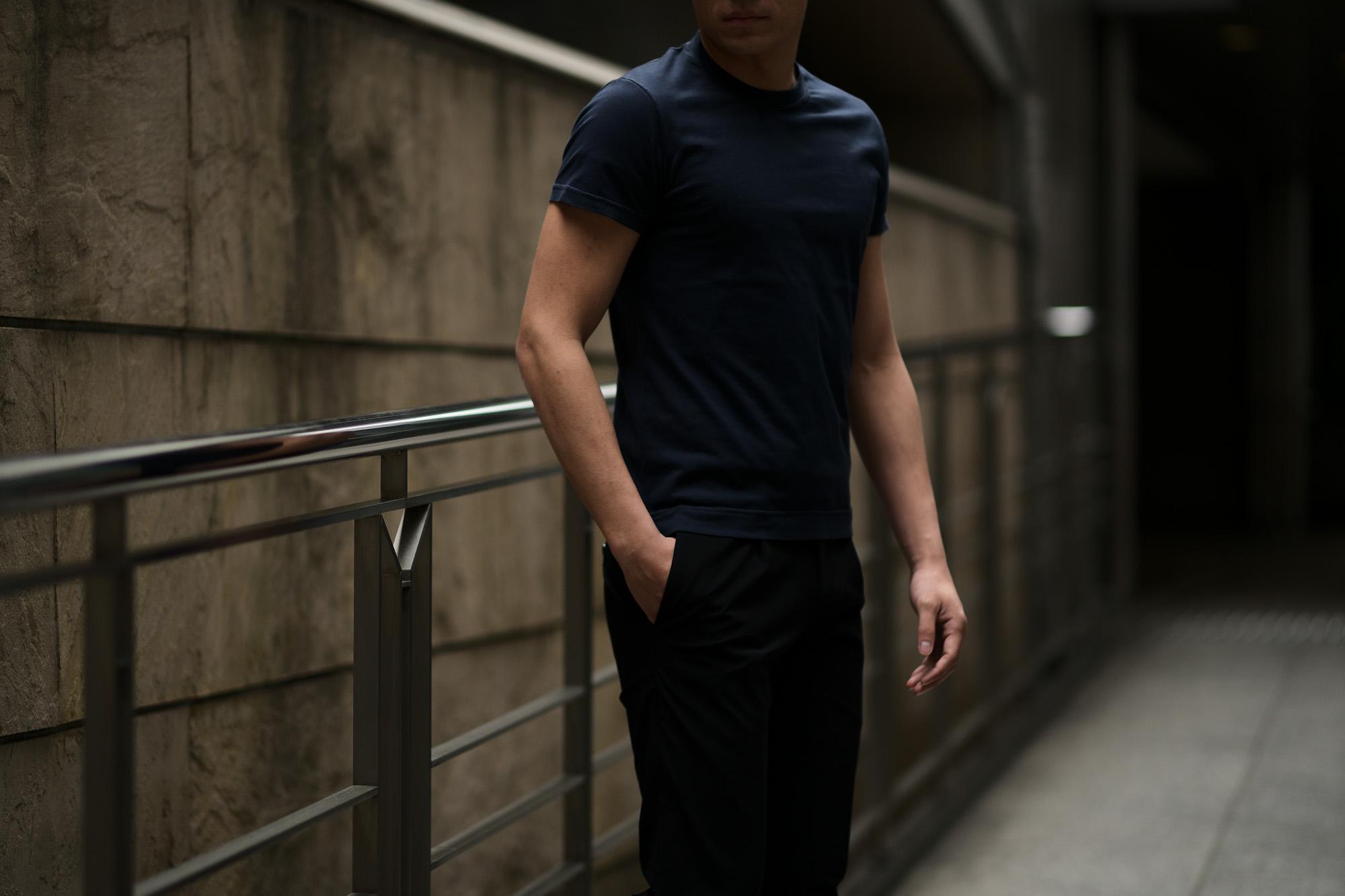 FEDELI (フェデーリ) Crew Neck T-shirt (クルーネック Tシャツ) ギザコットン Tシャツ NAVY (ネイビー・626) made in italy (イタリア製) 2019 春夏新作 愛知 名古屋 altoediritto アルトエデリット