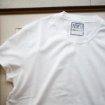 FEDELI (フェデーリ) Crew Neck T-shirt (クルーネック Tシャツ) ギザコットン Tシャツ WHITE (ホワイト・41) made in italy (イタリア製) 2019 春夏新作 愛知 名古屋 altoediritto アルトエデリット