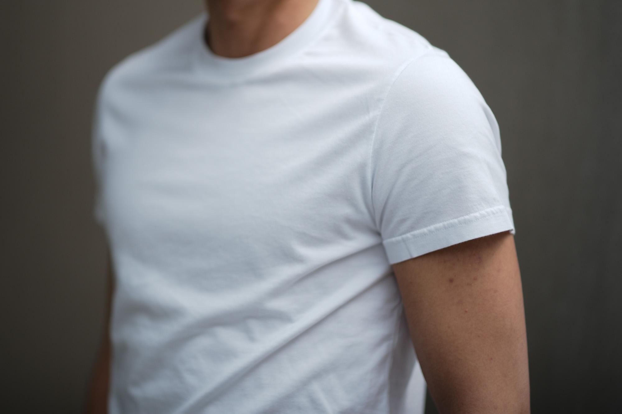 FEDELI (フェデーリ) Crew Neck T-shirt (クルーネック Tシャツ) ギザコットン Tシャツ WHITE (ホワイト・41) made in italy (イタリア製) 2019 春夏新作 愛知 名古屋 altoediritto アルトエデリット