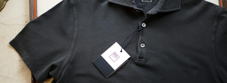 FEDELI (フェデーリ) Piquet Polo Shirt (ピケ ポロシャツ) カノコ ポロシャツ BLACK(ブラック・36) made in italy (イタリア製) 2019 春夏新作のイメージ