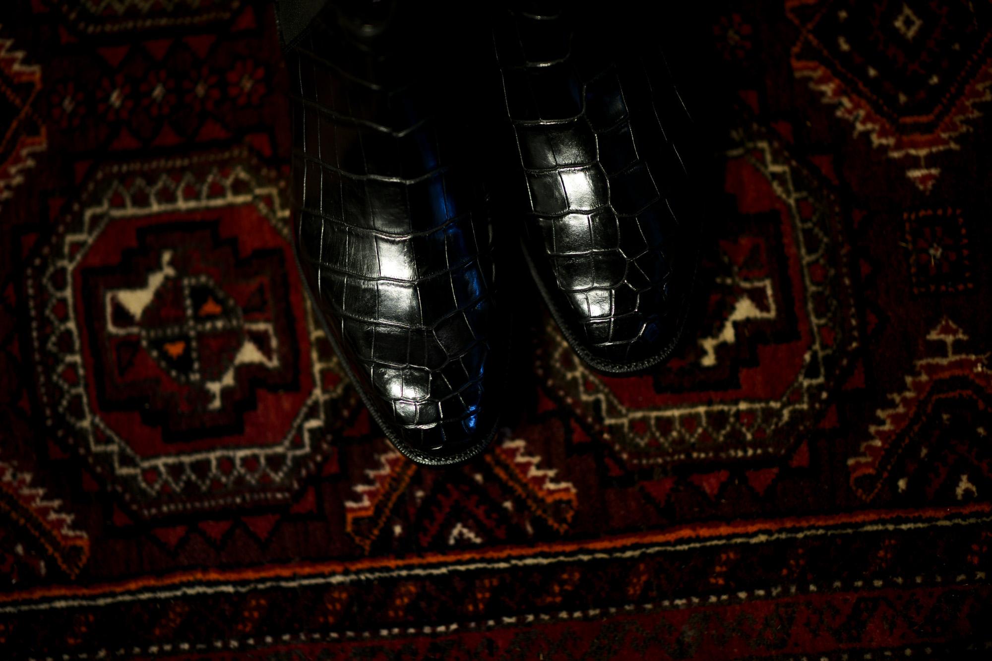 Georges de Patricia(ジョルジュ ド パトリシア) Diablo Crocodile (ディアブロ クロコダイル) 925 STERLING SILVER (925 スターリングシルバー) Crocodile クロコダイル エキゾチックレザー サイドゴアブーツ NOIR (ブラック) 2019 春夏 【Special Boots】 アルトエデリット ジョルジュドパトリシア ブーツ 超絶ブーツ ランボルギーニ ディアブロ lamborghini