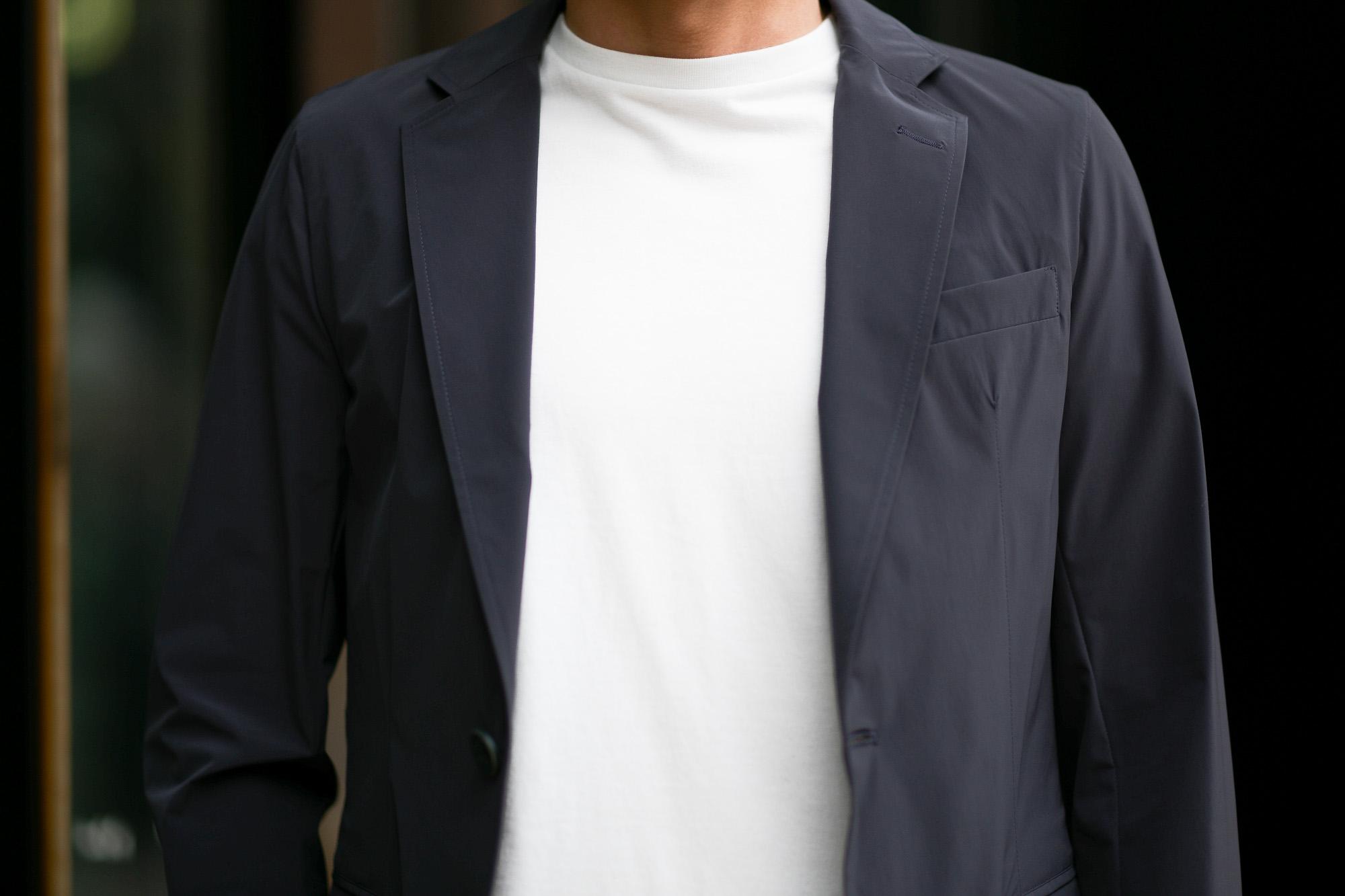 HERNO (ヘルノ) GA0069U Stretch Nylon Jacket (ストレッチ ナイロン ジャケット) 撥水ナイロン 2Bジャケット NAVY (ネイビー・9201) Made in italy (イタリア製) 2019 春夏新作 altoediritto アルトエデリット