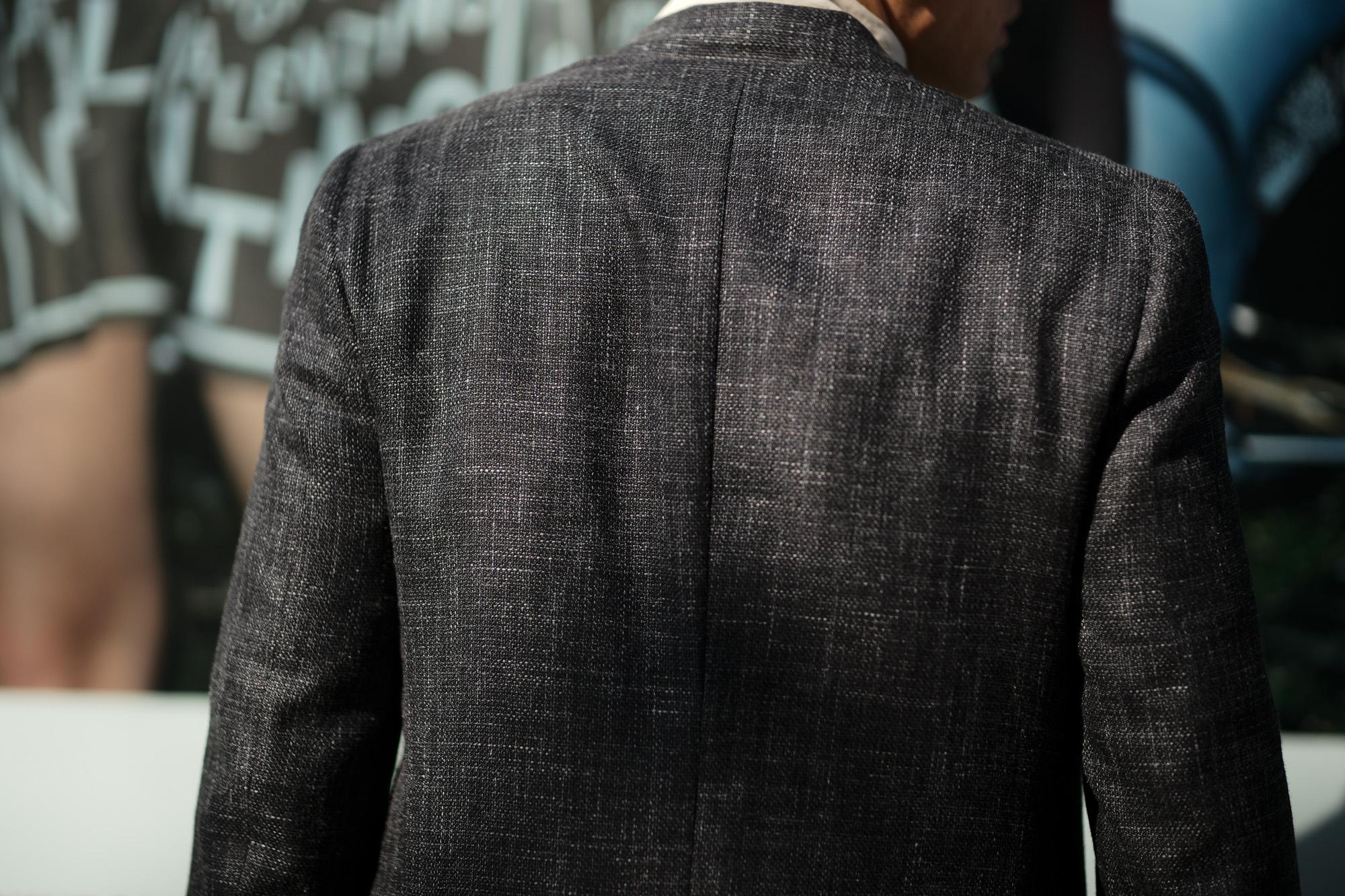 ISAIA (イザイア) POMPEI (ポンペイ) ウールシルクリネン サマー ジャケット BLACK (ブラック・990) Made in italy (イタリア製) 2019 春夏新作 愛知 名古屋 alto e diritto altoediritto アルトエデリット