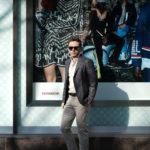 ISAIA (イザイア) POMPEI (ポンペイ) ウールシルクリネン サマー ジャケット BLACK (ブラック・990) Made in italy (イタリア製) 2019 春夏新作のイメージ