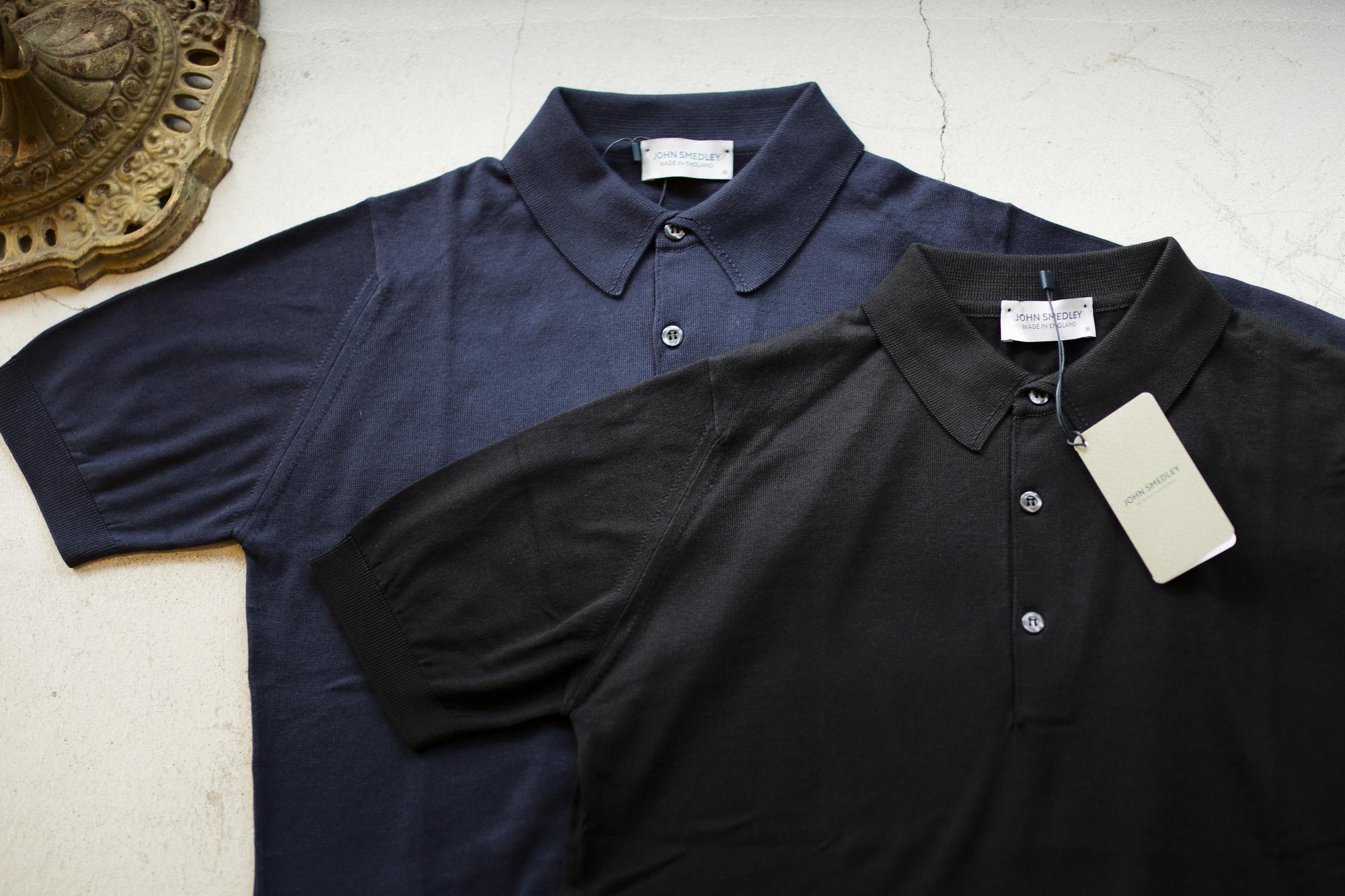JOHN SMEDLEY (ジョンスメドレー) S3798 Polo Shirt SEA ISLAND COTTON (シーアイランドコットン) ポロシャツ NAVY (ネイビー) , BLACK (ブラック) Made in England (イギリス製) 2019 春夏新作 johnsmedley 愛知 名古屋 altoediritto アルトエデリット