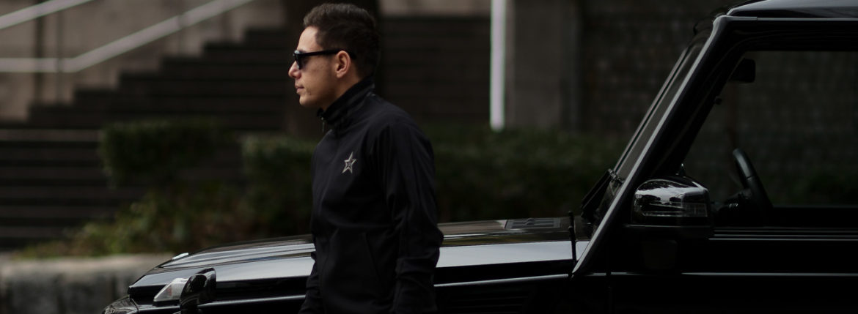 lucien pellat-finet (ルシアン ペラフィネ) Track Jacket スカルスターバンド ハイネック ジップジャケット BLACK (ブラック) MADE IN JAPAN (日本製) 2019 春夏新作のイメージ