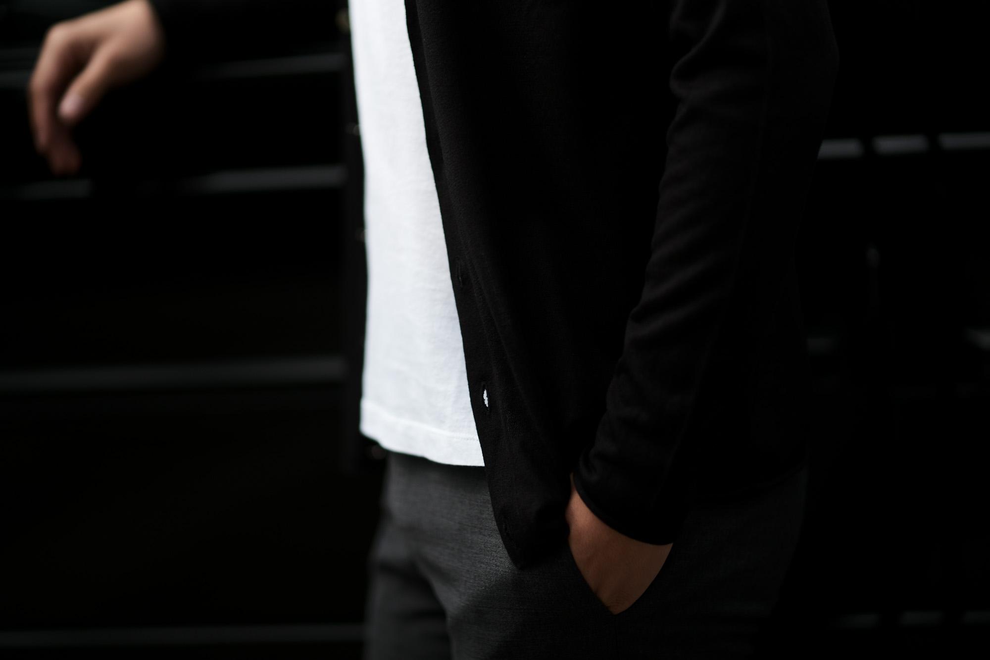 lucien pellat-finet (ルシアン ペラフィネ) V-Neck Cardigan シルクカシミア スカルスター Vネック カーディガン BLACK (ブラック) 2019 春夏新作 lucienpellatfinet ルシアンペラフィネ alto e diritto アルトエデリット 愛知 名古屋 altoediritto