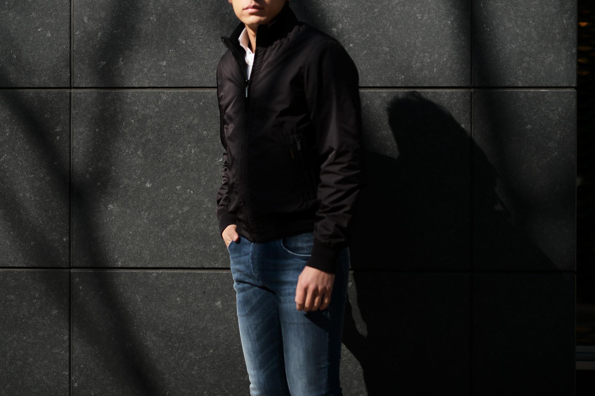 MOORER (ムーレー) AXTEN-KM G9タイプ ナイロン リバーシブル ブルゾン NERO / NERO (ブラック / ブラック) Made in italy (イタリア製) 2019 春夏新作 愛知 名古屋 Alto e Diritto アルトエデリット