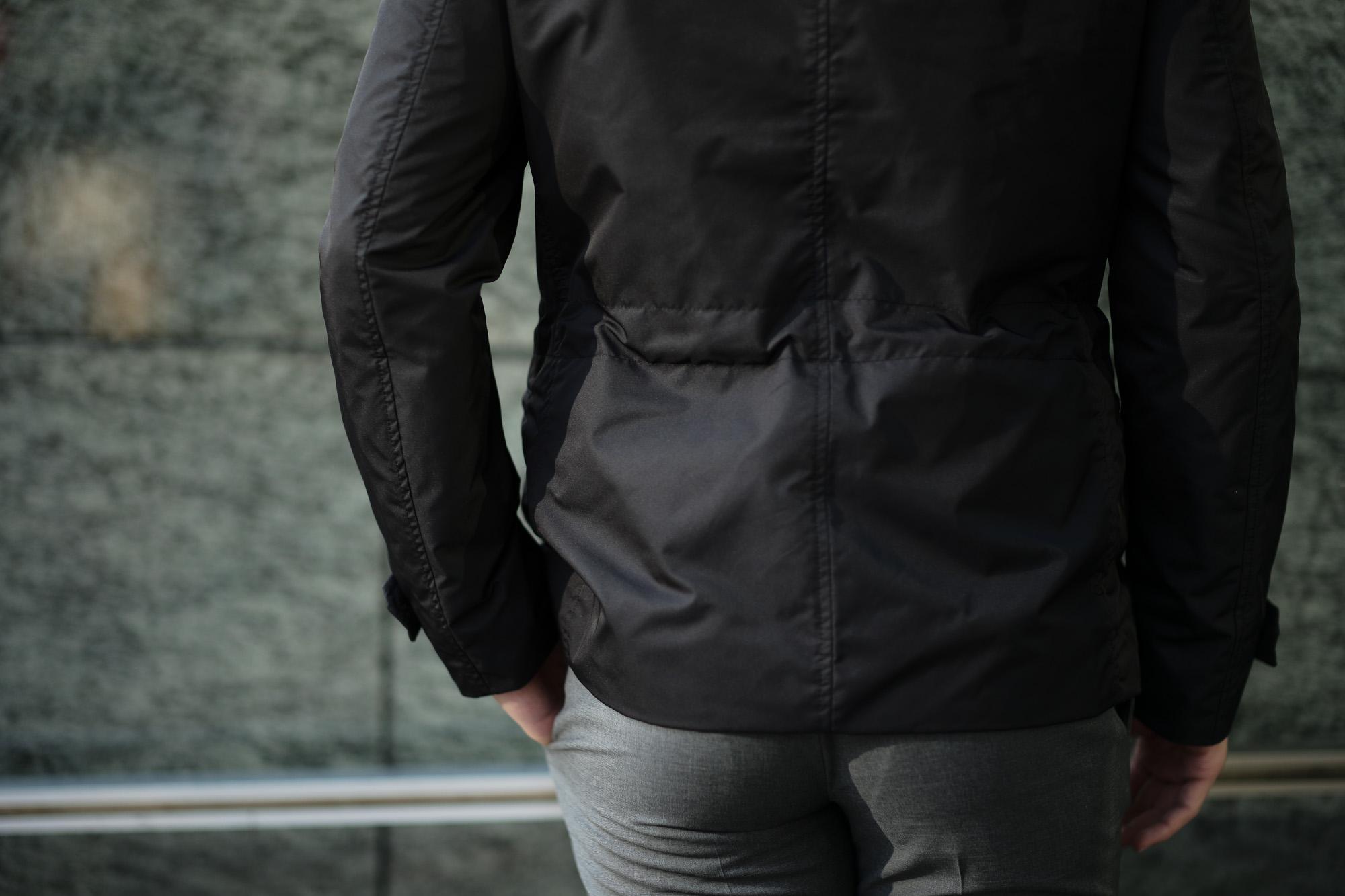 MOORER (ムーレー) NABUCCO-KM (ナブッコ) ダブルブレスト スタンドカラー ナイロン ジャケット NERO (ブラック) Made in italy (イタリア製) 2019 春夏新作 愛知 名古屋 alto e diritto アルトエデリット