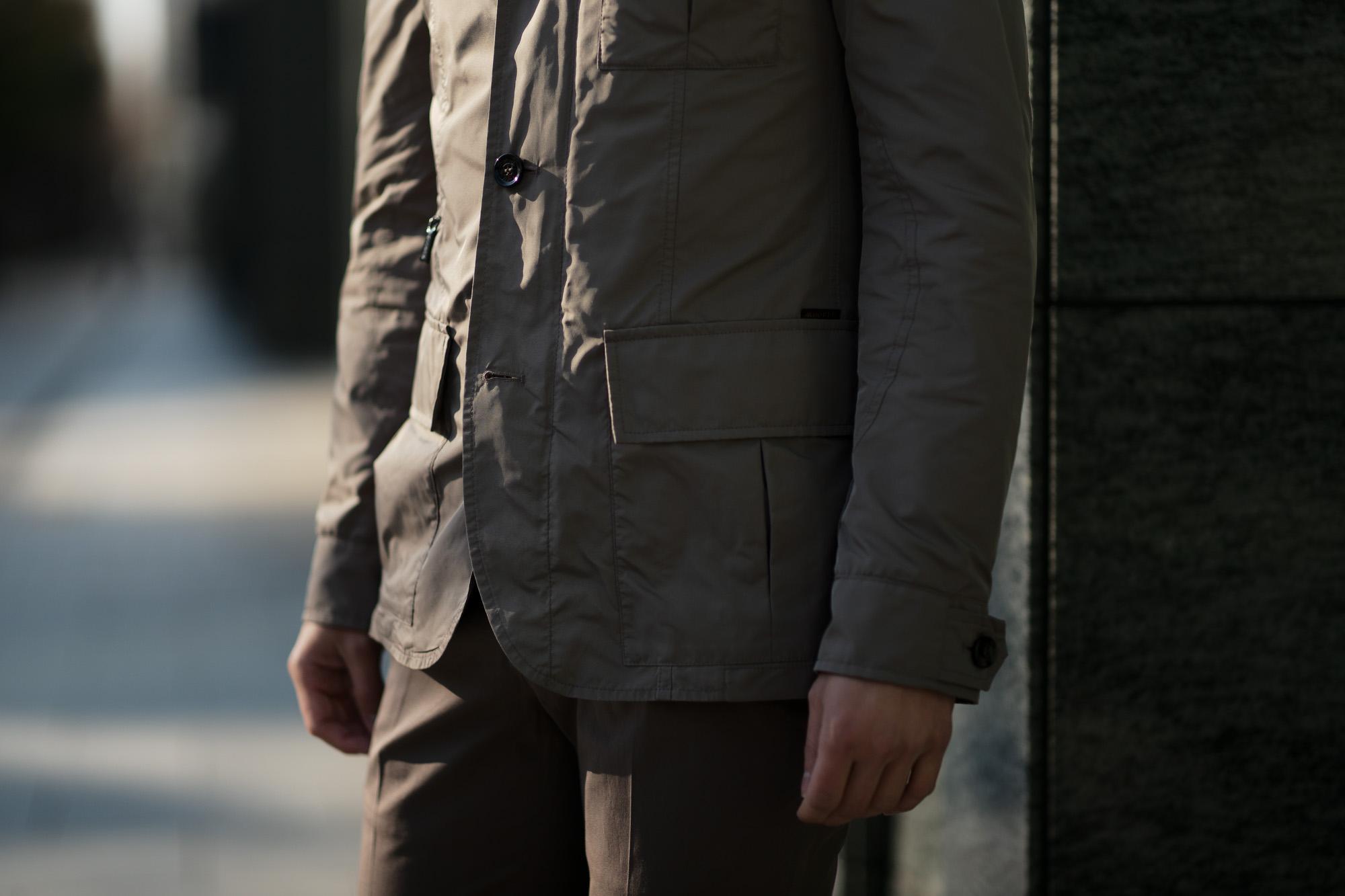 MOORER (ムーレー) PORTO-KM (ポルト) M-65 フィールド ナイロン ジャケット VISONE (グレージュ) Made in italy (イタリア製) 2019 春夏新作 愛知 名古屋 Alto e Diritto アルトエデリット