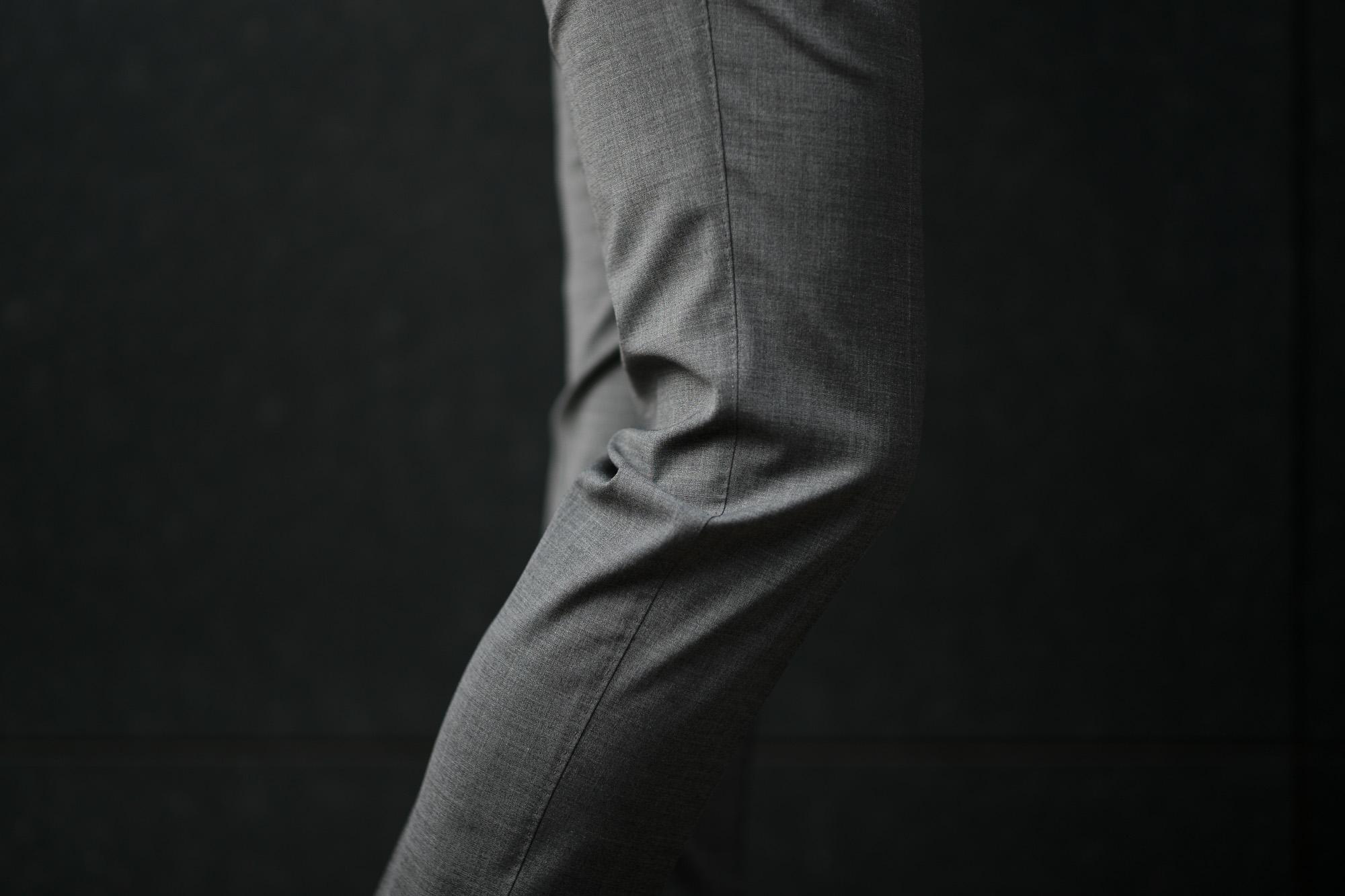 PT01 (ピーティーゼロウーノ) TRAVEL & RELAX SUPER SLIM FIT (スーパースリムフィット) ストレッチ ウォッシャブル トロピカル サマーウール スラックス GRAY (グレー・0230) 2019 春夏新作 愛知 名古屋 altoediritto アルトエデリット グレスラ