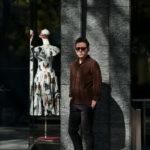 Alfredo Rifugio (アルフレード リフージオ) SS326 CAMOSCIO Summer Suede Leather Shirts サマースウェード レザーシャツ BROWN (ブラウン) made in italy (イタリア製) 2019 春夏新作のイメージ